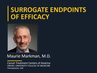 Surrogate endpoints of efficacy