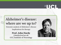 Alzheimer's disease: where are we up to?