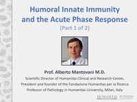 Humoral innate immunity and the acute phase response 1