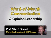 Word-of-mouth communication and opinion leadership