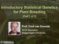 Introductory statistical genetics for plant breeding 1