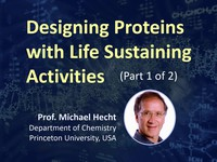 Designing proteins with life sustaining activities 1