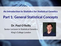 An introduction to statistics for statistical genetics: general statistical concepts