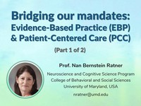 Bridging our mandates: evidence-based practice (EBP) and patient-centered care (PCC) 1