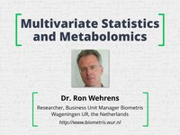 Multivariate statistics and metabolomics