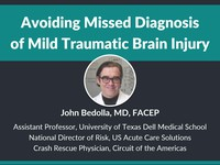 Avoiding missed diagnosis of mild traumatic brain injury