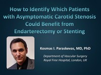 How to identify which patients with asymptomatic carotid stenosis could benefit from endarterectomy or stenting