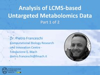 Analysis of LCMS-based untargeted metabolomics data 1