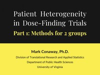 Patient heterogeneity in dose-finding trials - part 1: methods for 2 groups