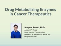 Drug metabolizing enzymes in cancer therapeutics