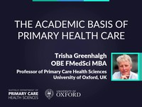 The academic basis of primary health care