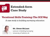 Vocational skills training: the ICZ way