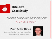 Toyota's supplier association: a case study