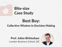 Best Buy: collective wisdom in decision making