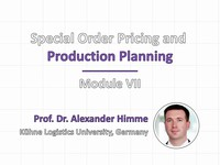 Special order pricing and production planning