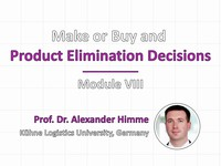 Make or buy and product elimination decisions