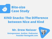 KIND snacks: the difference between nice and kind