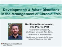 Latest developments & future directions  in the management of chronic pain