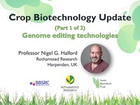 Crop biotechnology update 1: genome editing technologies