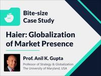 Haier: globalization of market presence