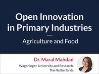 Open innovation in primary industries: agriculture and food