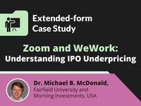 Zoom and WeWork: understanding IPO underpricing